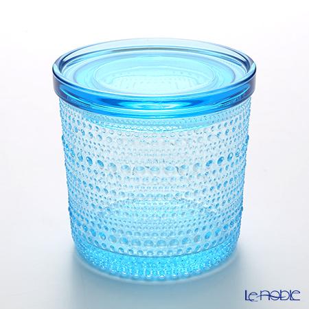 イッタラ(iittala) カステヘルミ 蓋付ジャー ライトブルー 大 (蓋はプラスチック製)