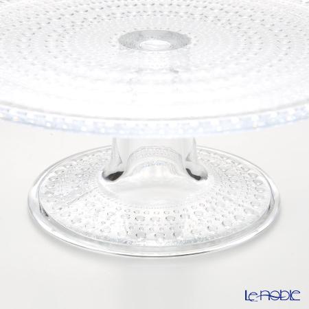 Iittala 'Kastehelmi' Clear Cake Stand 23.5xH9cm