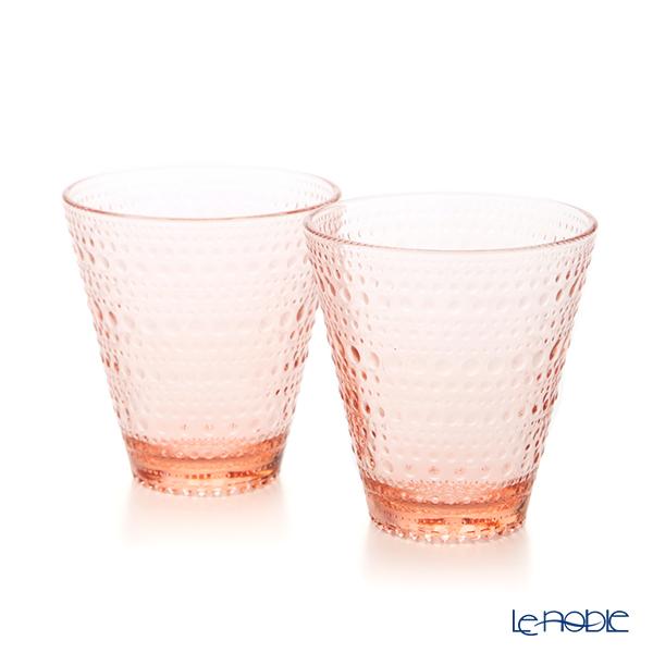 Iittala 'Kastehelmi' Salmon Pink 1020138 Tumbler 300ml (set of 2)