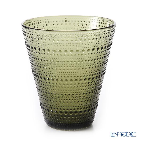 Iittala 'Kastehelmi' Moss Green Vase H15.5cm