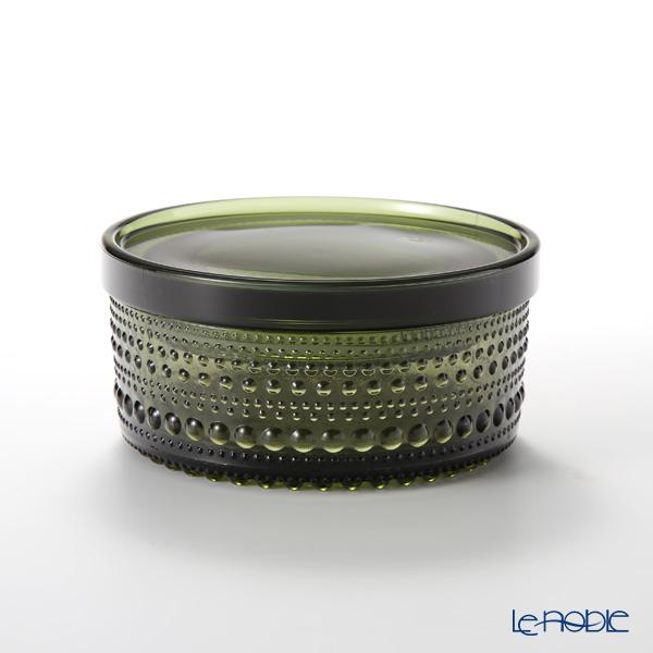 Iittala 'Kastehelmi' Moss Green Jar H5.7cm (S)