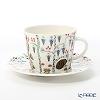 Iittala 'Taika - Siimes (Hedgehog & Capercailzie Bird)' Coffee Cup & Saucer 200ml