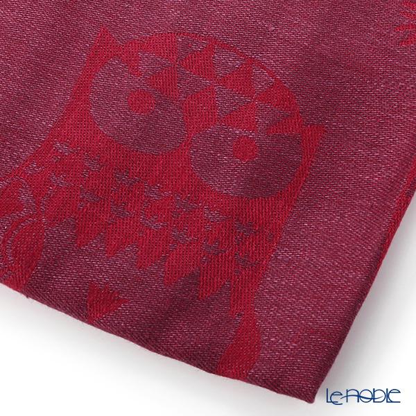 Iittala 'Taika (Owl)' Plum Tea Towel 47x70cm