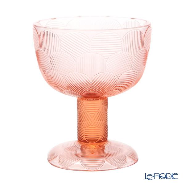 Ittala 'Miranda' Salmon Pink 1051299 Bowl (footed) H14.5cm