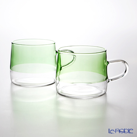 KOLME DESIGN PUPULU マグカップ(グリーン) 280ml ペア