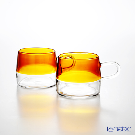 KOLME DESIGN PUPULU マグカップ(アンバー) 170ml ペア