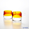 THE THREE DESIGN PUPULU Pair of mugs (Amber) 170 ml