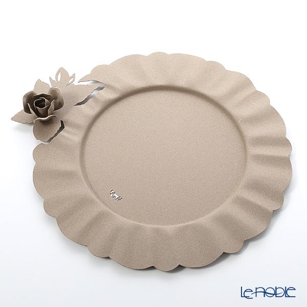 アルティ・エ・メスティエリ ローズブーケ チャージャープレート ベージュ 直径35cm 鉄製