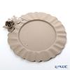 Arti-et-mastery rose bouquet Metal charger plate beige diameter 35 cm