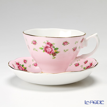 Royal Albert New Counrty Roses - Pink Vintage Teacup & Saucer Boxed NCRPNK26135