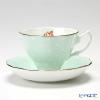 Royal Albert 'Polka Rose' Green Vintage Tea Cup & Saucer 130ml with Brand box