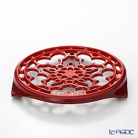 Le Creuset (LeCreuset) Pot stand round cherry red
