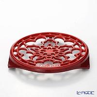 ル・クルーゼ(LeCreuset)鍋敷き 丸型 チェリーレッド