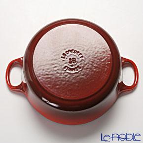 Le Creuset Cocotte Ronde/Round Casserole 18 cm, cherry red (cerise), cast iron