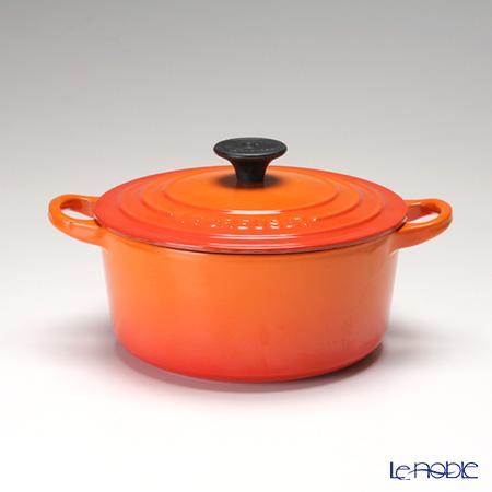 ル・クルーゼ(LeCreuset) ココット・ロンド18cm オレンジ