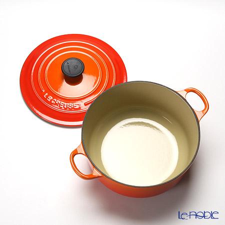 ル・クルーゼ(LeCreuset) ココット・ロンド20cm オレンジ
