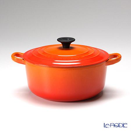ル・クルーゼ(LeCreuset) ココット・ロンド 20cm オレンジ