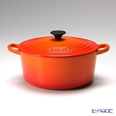 ル・クルーゼ(LeCreuset) ココット・ロンド 22cm オレンジ