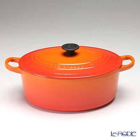ル・クルーゼ(LeCreuset) ココット・オーバル 25cm オレンジ