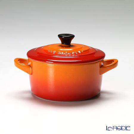 ル・クルーゼ(LeCreuset) ミニココット(ストーンウェア) 10cm オレンジ