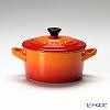 ル・クルーゼ(LeCreuset) ミニココット(ストーンウェア)10cm オレンジ