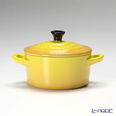 Le Creuset 'Petite' Soleil Yellow [Stoneware] Round Casserole / Cocotte 10cm