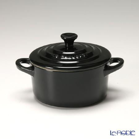 ル・クルーゼ(LeCreuset) ミニココット(ストーンウェア) 10cm ブラック