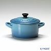 Le Creuset ( stoneware ) Mini Cocottes Caribbean blue's a 10 cm