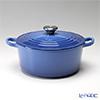 Le Creuset Cocotte Ronde/Round Casserole 22 cm, marseille blue, cast iron