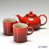 Le Creuset teapot & mug set of 2 Red