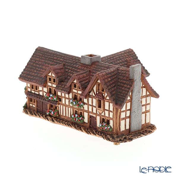 北欧リトアニア製陶器 ミニチュアハウス 香台付 イギリス シェイクスピアの生家 R233
