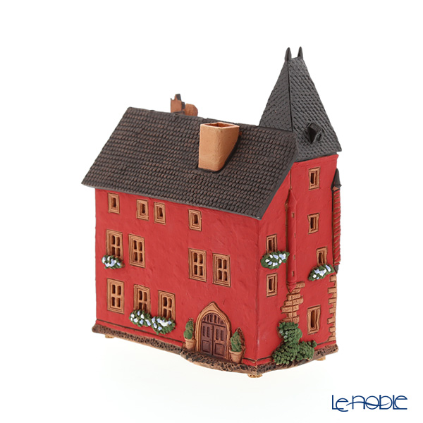 Candle House miniatures chimney / Northern Lithuania ceramics with aromas (incense stand) France Haguenau Alsace Museum C384AR LED Candle...