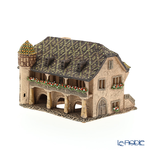 Candle House miniatures chimney / Northern Lithuania ceramics with aromas (incense stand) France Colmar old customs house C373AR LED Candle...