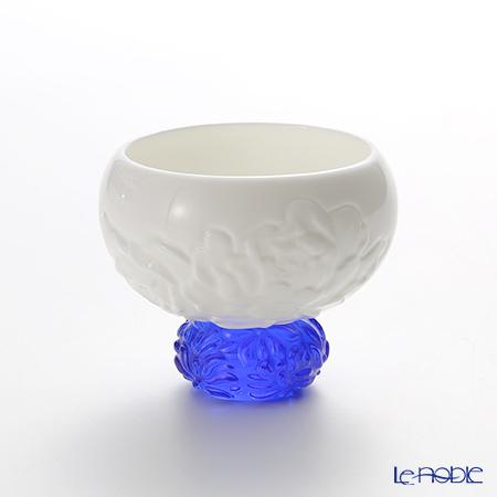 琉璃工房 LIULI LIVING 酒杯 脚琉璃 ブルー 珍喜四季ー春牡丹 CVT066.B14AJ