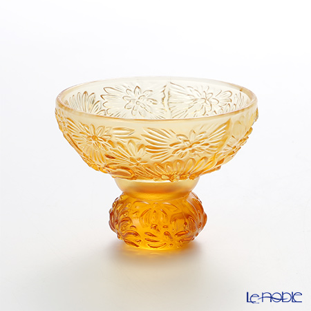 LiuLi Living 'Virtuous Chrysanthemum' Amber Orange CVT062 Sake Glass Cup