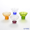 Liuligongfang Liuli Living Glassware (Sake Glass, 2 Designs) - A Drink To Virtue (Set of 4) VTB040.AFXXX