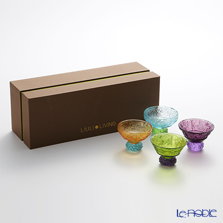 LiuLi Living 'A Drink To Virtue' Mixed Color VTB043 Sake Glass Cup (set of 4 designs)