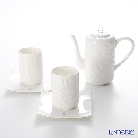 LiuLi Living 'Spring Water' VTC082 Cup & Saucer, Pot (set of 3 for 2 persons)