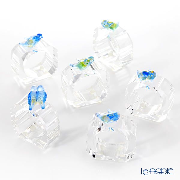LiuLi Living 'Murmurings of Secrets - Dazzling Ring of Birds' Blue VGD016 Napkin Holder (set of 6)