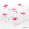 LiuLi Living 'Murmurings of Secrets - Dazzling Ring of Flowers' Pink VGD015 Napkin Holder (set of 6)