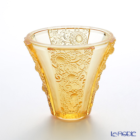 LiuLi Living / Crystal Glass 'In the Presence of Spring / Exquisite Goldenrod' Amber VGV017 Flower Vase H13cm