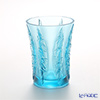 LiuLi Living / Crystal Glass 'In the Presence of Spring / Lovely Bamboo Shadows' Blue VGV016 Flower Vase H16.5cm