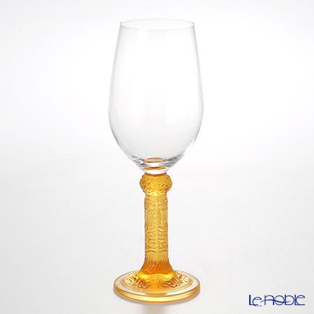 琉璃工房 LIULI LIVING 赤白兼用ワイングラス アンバー花月対 CVT064.A14AA