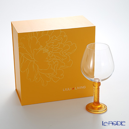 Liuli Living / Crystal Glass 'Flower Moon Duo' Amber CVT065 Burgundy Wine Glass H21.5cm