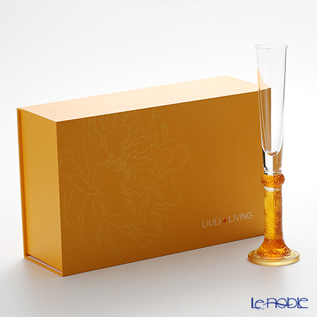LiuLi Living / Crystal Glass 'Auspicious - Bubbly Reflections' Ambler VTG002 Champagne Flute H30.5cm