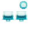 [Back Order] Liuli Gongfang Sake Glass, Shot Glass (Set of 2), Sky Blue Toast to Happiness! Be Water VTB045. ATXAM