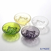 Liuli Living / Crystal Glass 'Fragrant Aerial Dance' VTD112 Small Plate 7.5cm (set of 4 colors)
