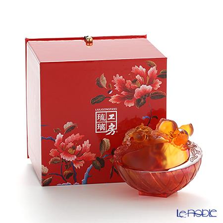 "Liuligongfang Lucky Eight collection Small Decoration Bowl (Peach) - ""Longevity Luck"" PDF022.ADA"