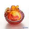 LiuLi GongFang / Paste Crystal Glass 'Lucky Eight - Longevity Luck (Peach)' PDF022 Bowl 8cm