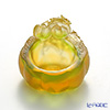 LiuLi GongFang / Paste Crystal Glass 'Lucky Eight - Golden Luck (Pampkin)' PDF029 Bowl 8cm